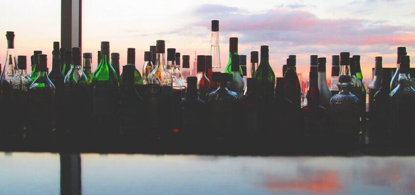 Ensemble de boissons spiritueuses