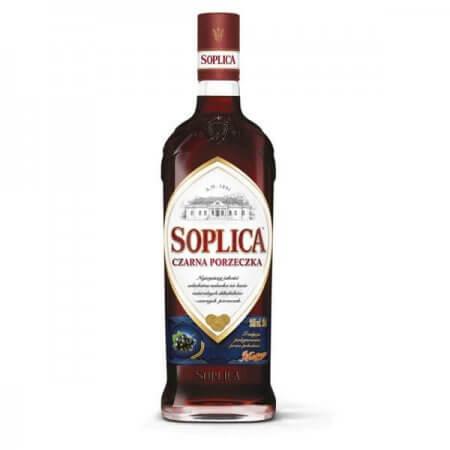 Bouteille liqueur de vodka Soplica Cassis (Czarna Porzeczka) 50cl
