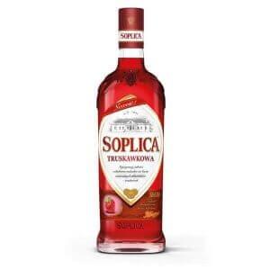 Bouteille liqueur de vodka Soplica Fraise (Truskawkowa) 50cl