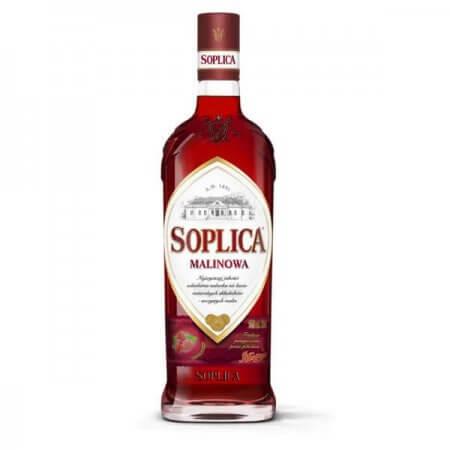 Bouteille liqueur de vodka Soplica Framboise (Malinowa) 50cl