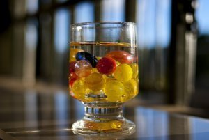 Billes dans un verre