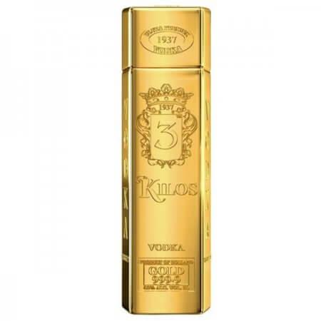 Bouteille Vodka 3 Kilos Gold - 1L