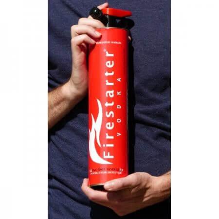 Bouteille Vodka Firestarter (extincteur) - prise en mains