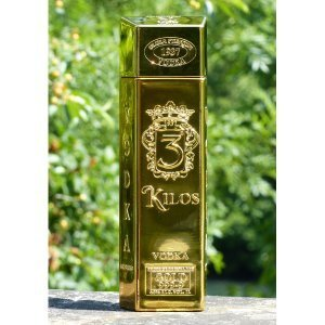 "Bouteille Vodka ""lingot d'or"" 3 Kilo Gold - 1L."
