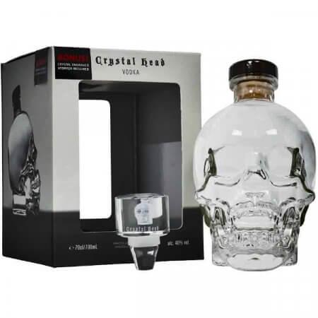 Vodka Crystal Head avec bouchon gravé