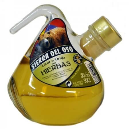 Bouteille de liqueur aux herbes d'Orujo - Format Porrón - 20cl.