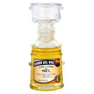 Bouteille de liqueur au miel d'Orujo - Format Alquitara- 5cl.
