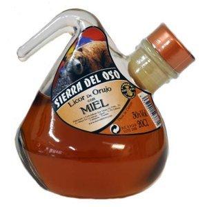 Bouteille de liqueur au miel d'Orujo - Format Porrón - 20cl.