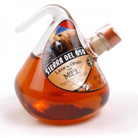 Bouteille de liqueur au miel d'Orujo - Format Porrón - 50cl.