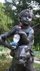 Soplica Myrtille - photo statue ange