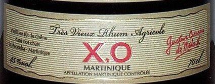 Rhum martinique XO étiquette