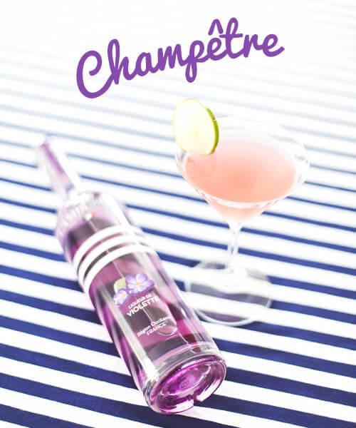 Cocktail Champêtre - Liqueur de violette Cambusier
