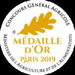 Médaille d'or au Concours Général Agricole 2019