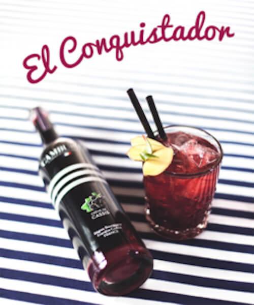 Cocktail El Conquistador - Crème de Cassis Cambusier