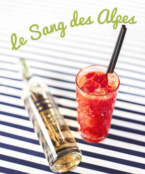 Cocktail le Sang des Alpes - Liqueur de Génépi Cambusier