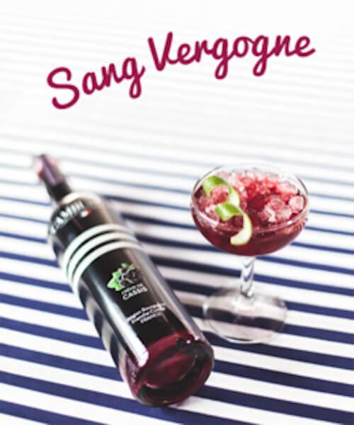 Cocktail Sang Vergogne - Crème de Cassis Cambusier