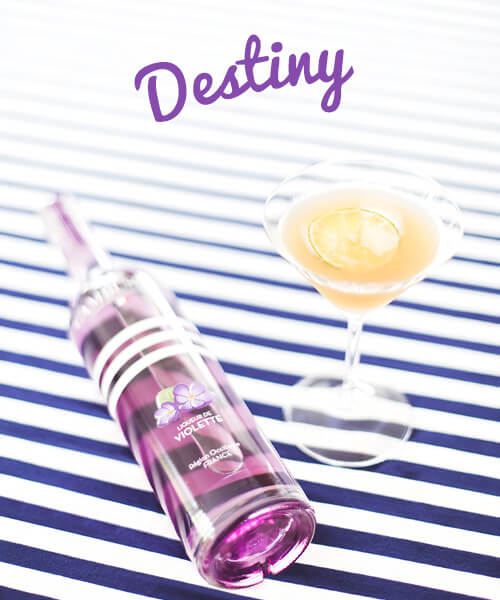 Cocktail Destiny - liqueur violette Cambusier