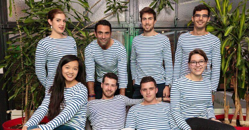 Cambusier : l'équipe en marinière