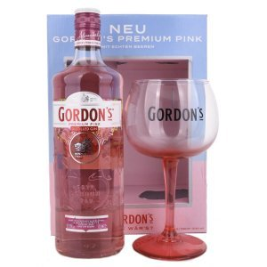 Gin Gordon's Pink London Dry Gin Coffret avec verre