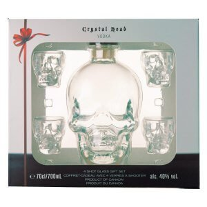 Coffret Crystal Head Vodka avec 4 verres tête de mort