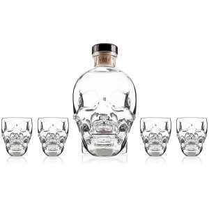 Crystal Head Vodka et ses 4 verres