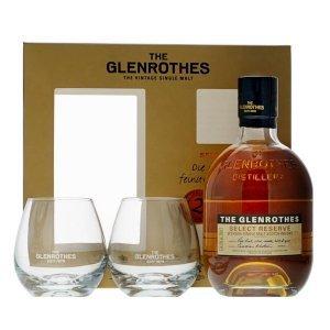 Coffret Whisky Glenrothes Select Reserve avec 2 verres