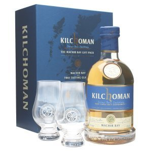 Coffret Kilchoman The Machir Bay avec 2 verres Glencairn