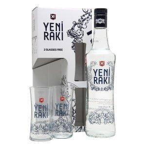 Yeni Raki : Coffret avec 2 verres