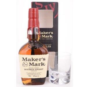 Maker's Mark Bourbon avec 1 verre