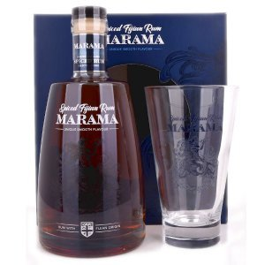 Coffret Spiced Rhum Marama Fidji avec verre