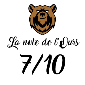 Note attribuée par le Bar de l'Ours : 7/10