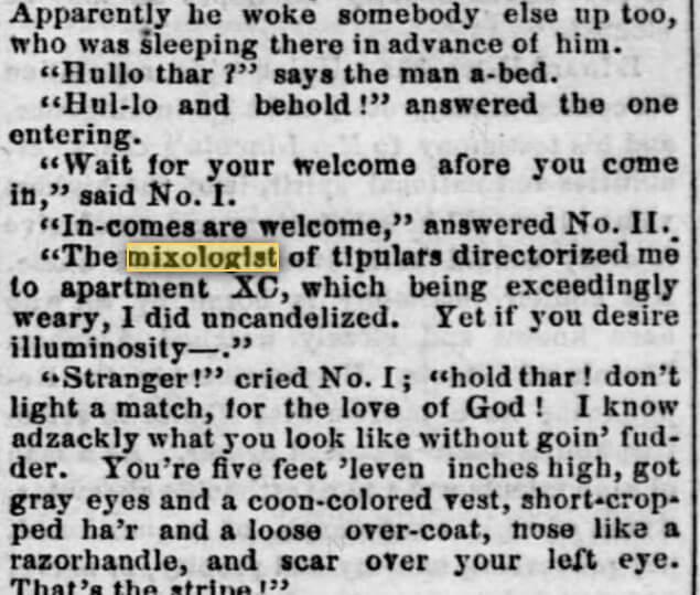 Extrait du journal Raftman's du 4 juillet 1860