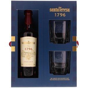 Coffret Rhum Santa Teresa 1796 avec 2 verres