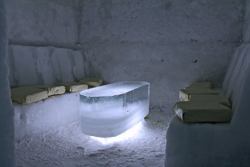 Concept de bar de glace