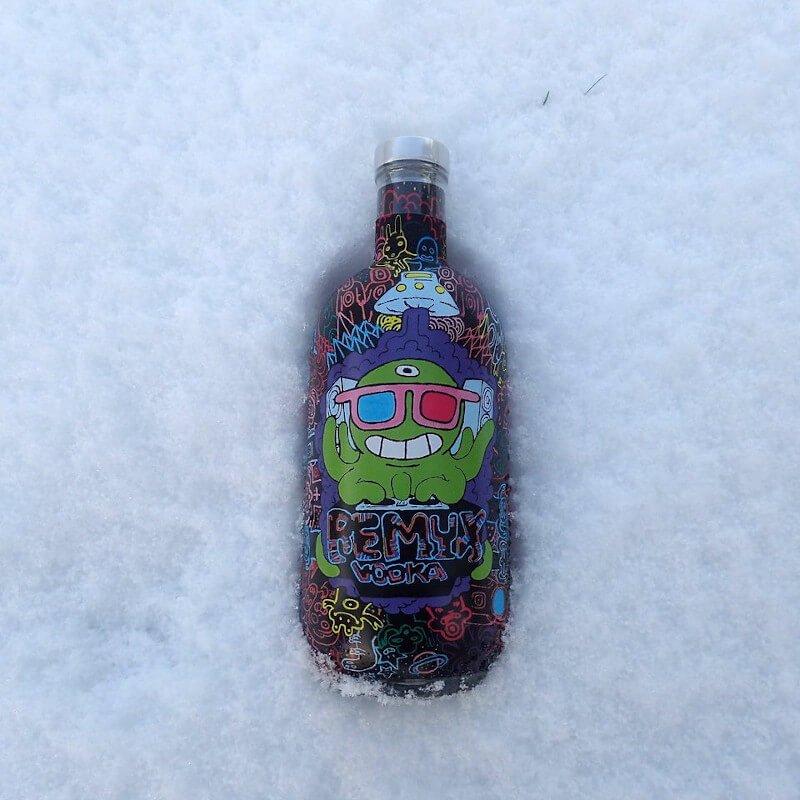 Vodka Remyx dans la glace