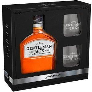 Coffret Jack Daniel's Gentleman Jack avec 2 verres
