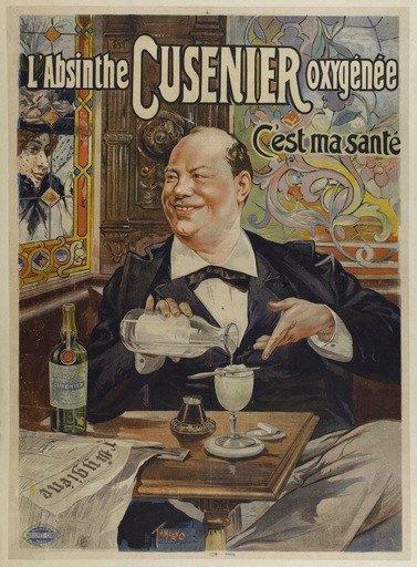 Affiche : Absinthe Cusenier - c'est ma santé