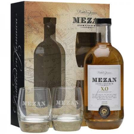 Coffret Mezan XO + 2 Verres - Rhum de Jamaïque