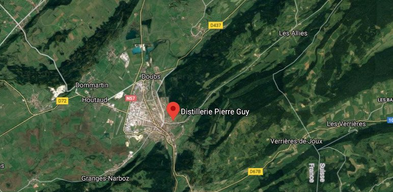 Emplacement de la distillerie Pierre Guy à Pontarlier