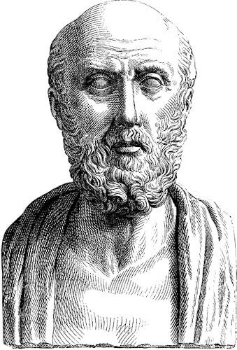 Représentation d'Hippocrate (gravure du 19ème siècle)
