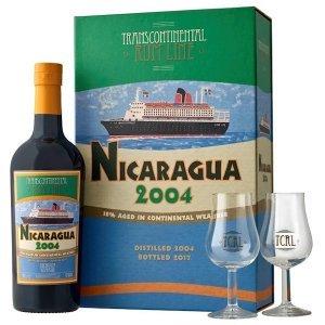 Rhum Nicaragua 2004 en coffret avec 2 verres - Transcontinental Rum Lines
