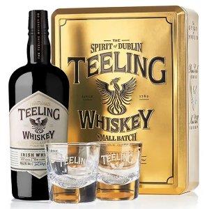 Coffret whisky Teeling Small Batch avec 2 verres