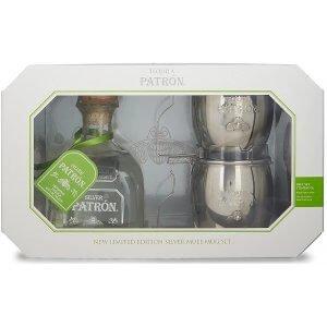 Coffret Tequila Patrón Silver avec 2 Mugs