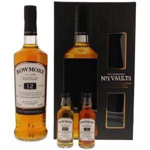 Whisky Bowmore 12 ans en coffret avec 2 mignonnettes