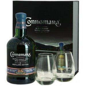 Coffret Whisky Connemara Distillers Edition avec 2 verres