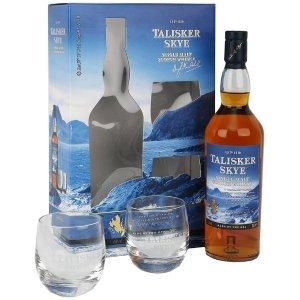 Coffret Whisky Talisker Skye avec 2 verres