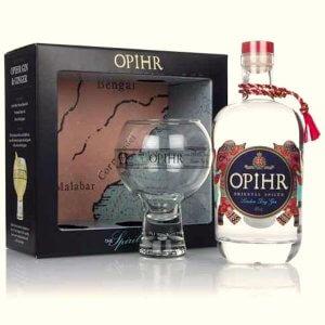 Coffret Gin Opihr Oriental Spiced avec un verre