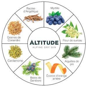 Liste des plantes composant le Altitude Gin