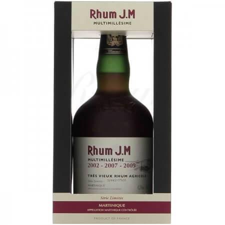 Rhum J.M Multimillésime 2002 - 2007 - 2009