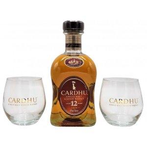 Whisky Cardhu 12 ans avec 2 verres